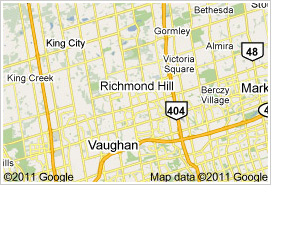 Richmond Hill Ontario Map