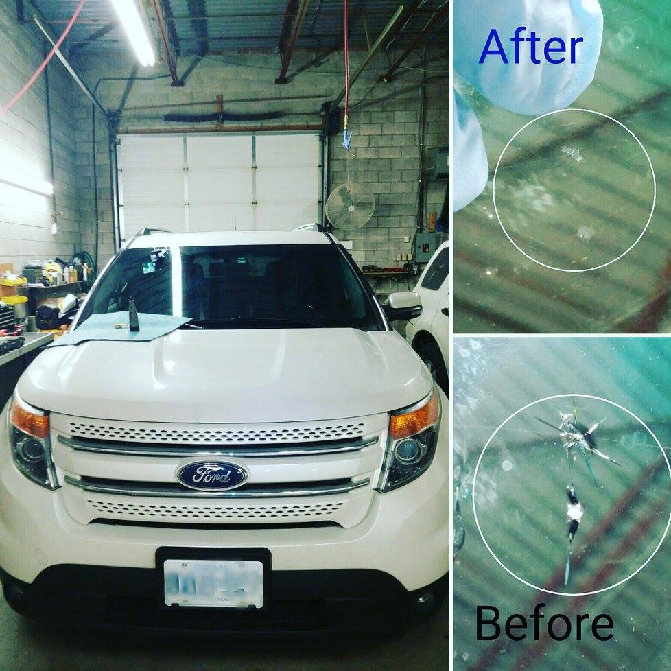 autoglass chip repair Richmond Hill before after