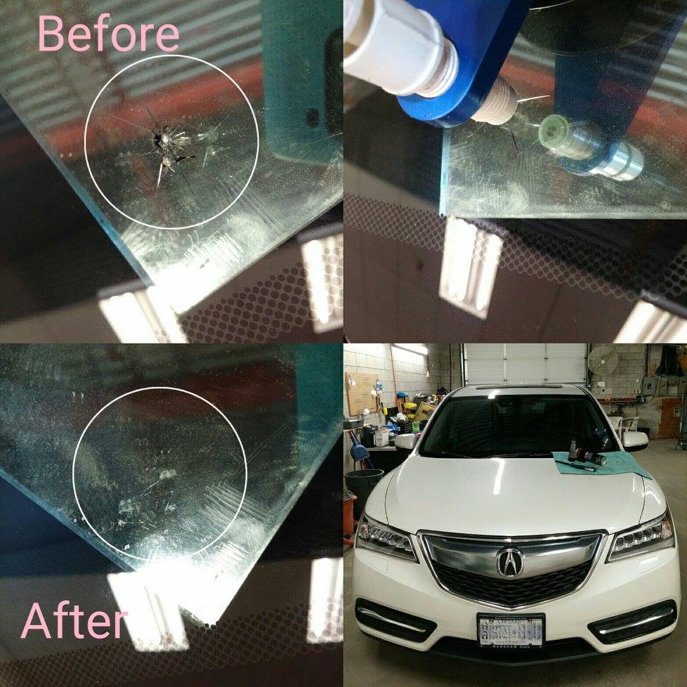 car glass repair Richmond Hill before after