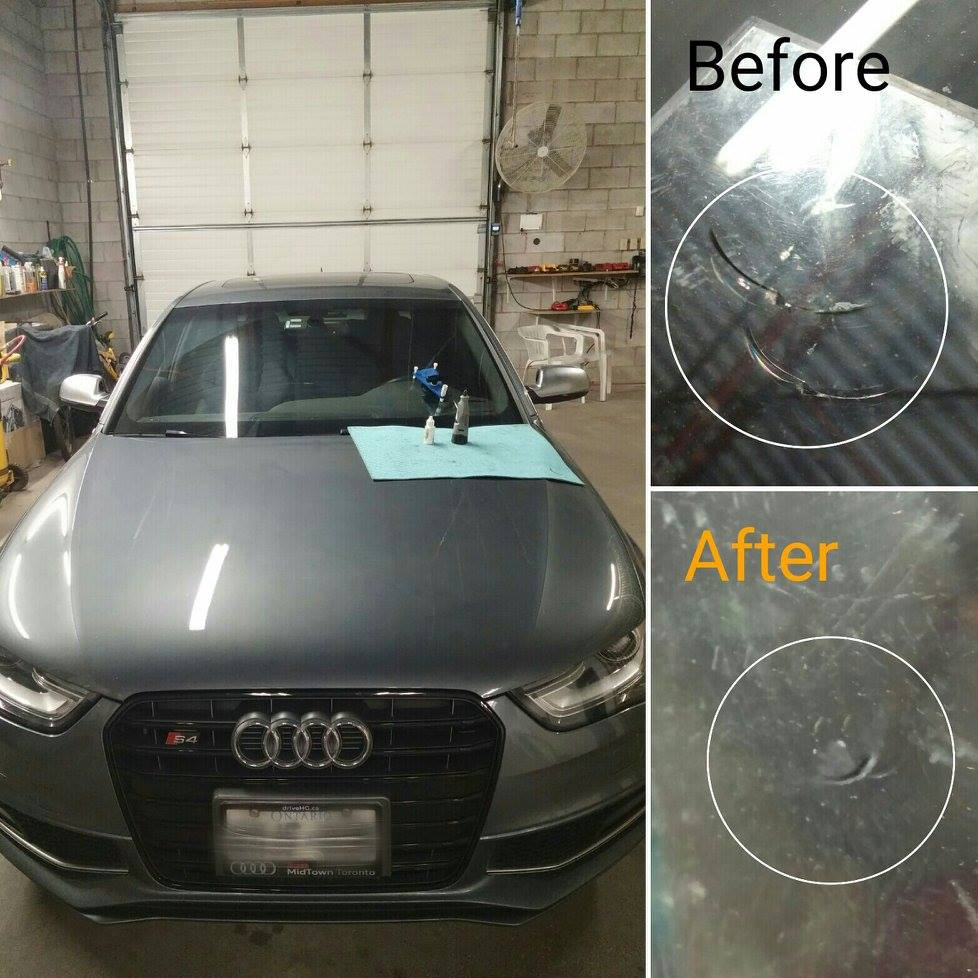 car window repair Richmond Hill before after photo